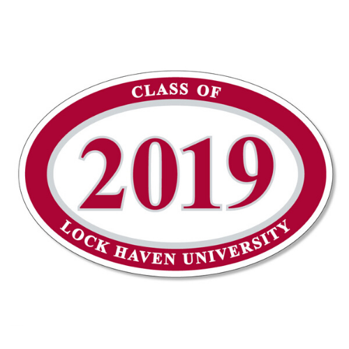 Image For Class of 2019 Oval Decal