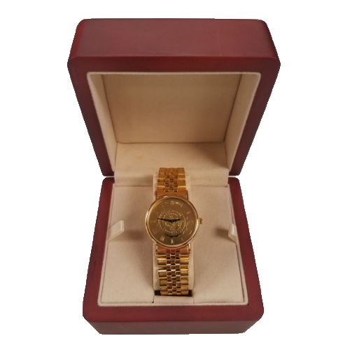 Image For Lock Haven University Gents Gold Tone Watch