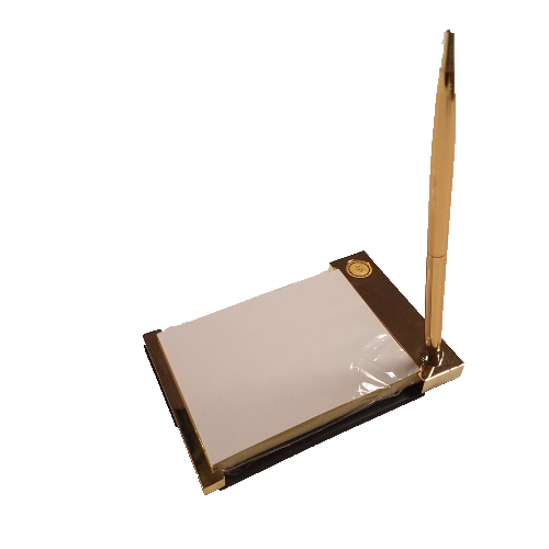 Image For Gold Tone Notepad and Pen