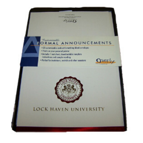Image For Customizable Formal Graduation Announcements