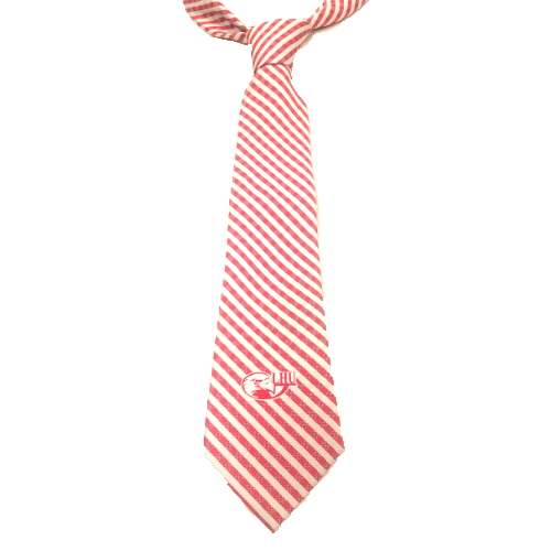 Image For Gingham Tie with Eagle Head Logo