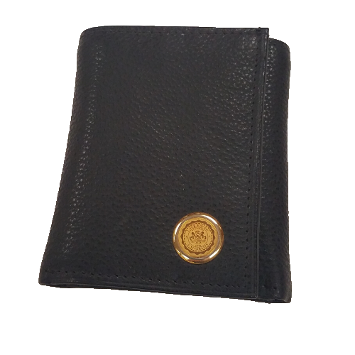 Image For Leather Wallet with Gold Tone Seal
