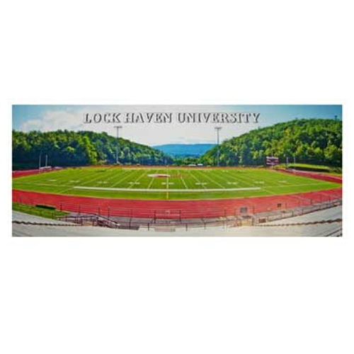 Image For Lock Haven University Football Stadium Panoramic Postcard