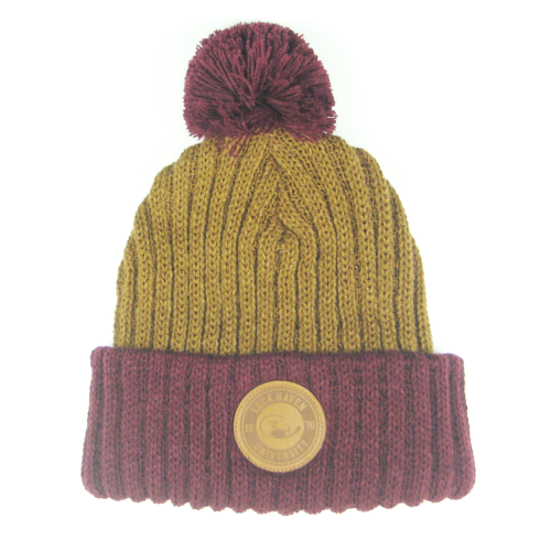 Image For Cuff Beanie with Leather Patch- Additional Color Available