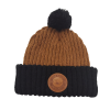 Cover Image for Cuff Beanie with Leather Patch- Additional Color Available