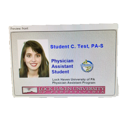 Image For Lock Haven University PA Student ID